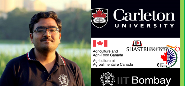 Mr. Dipankar Mandal awarded the Shastri Indo-Canadian Institute-SRSF Fellowship